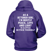 Limited Edition **October Girl Peace Love** Shirts & Hoodies
