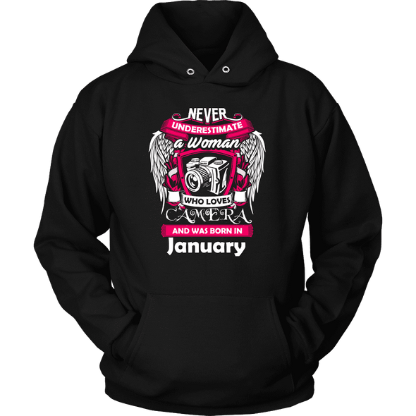January Women Who Loves Camera - Shirt, Hoodie & Tank