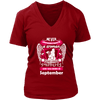 September Women Who Loves Pitbull Shirt, Hoodie & Tank