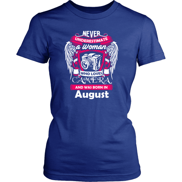 August Women Who Loves Camera Shirt, Hoodie & Tank