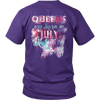**Limited Edition** July Born Queen Back Print Shirt