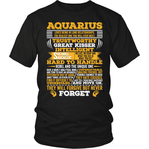 Long Quote Aquarius Shirt, Hoodie & Tank