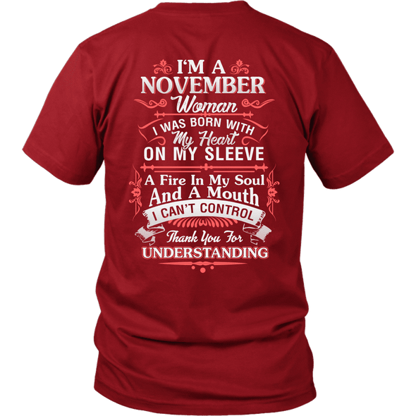 Limited Edition **November Women Heart On Sleeve** Shirts & Hoodies
