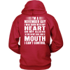 Limited Edition **November Guy Heart On Sleeve Back Print*** Shirts & Hoodies