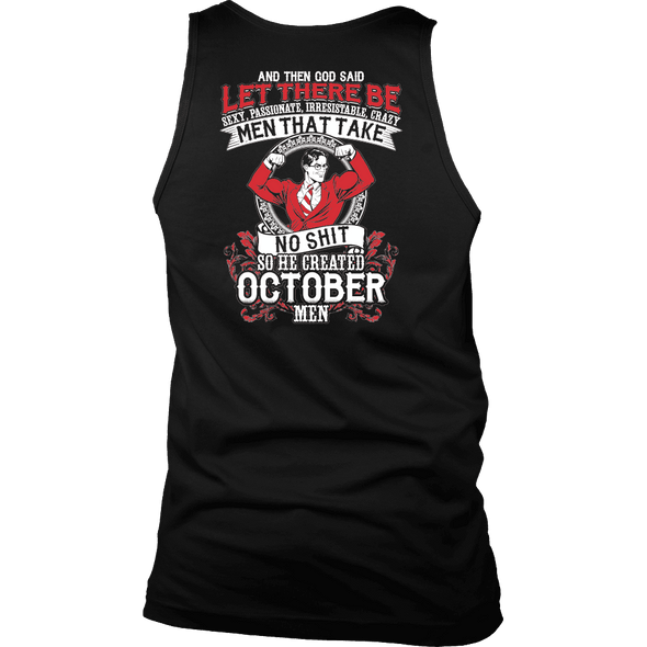 Limited Edition **God Created October Men** Shirts & Hoodies