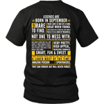 Legends Are Born In September ***Limited Edition Shirt***