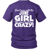 Limited Edition ***June Crazy Girl*** Shirts & Hoodies
