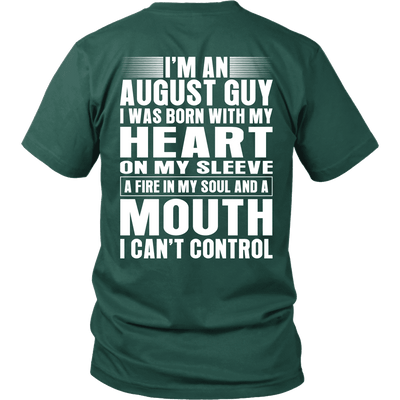 Limited Edition ***August Guy Heart On Sleeve Back Print*** Shirts & Hoodies