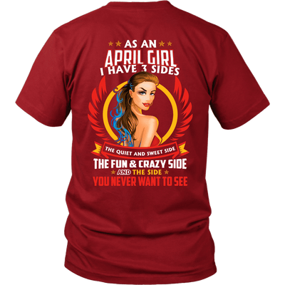 Limited Edition ***April Girl 3 - Sides*** Shirts & Hoodies