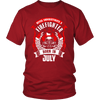 Never Underestimate July Born Firefighter Shirt, Hoodie & Tank