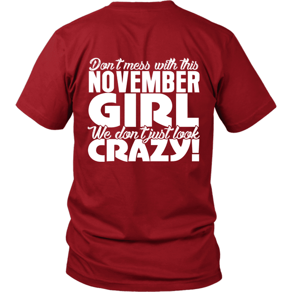 Limited Edition **Crazy November Girl** Shirts & Hoodies