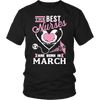 Best Nurses Are Born In March Women Shirts, Hoodie & Tank