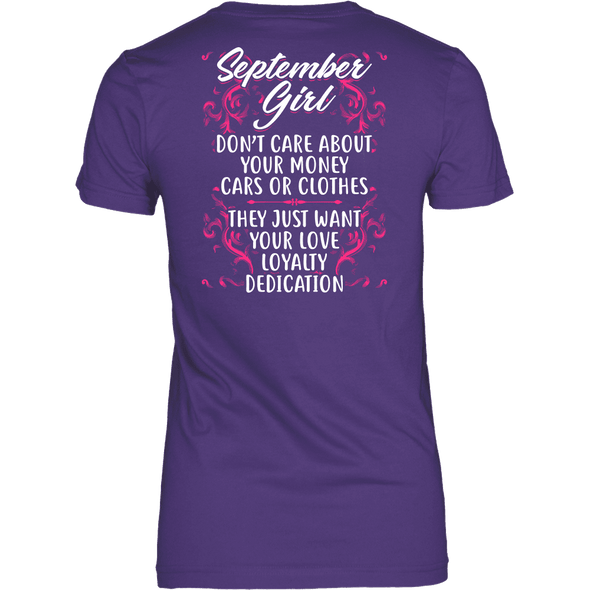 Limited Edition ***September Girl Don't Care About Money*** Shirts & Hoodies