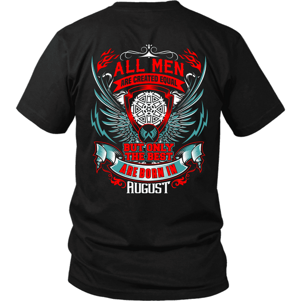 Best Men Are Born In August Back Print Shirt, Hoodie & Tank