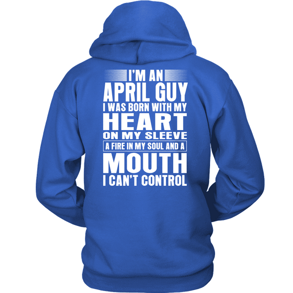 Limited Edition ***April Guy Heart On Sleeve Back Print*** Shirts & Hoodies
