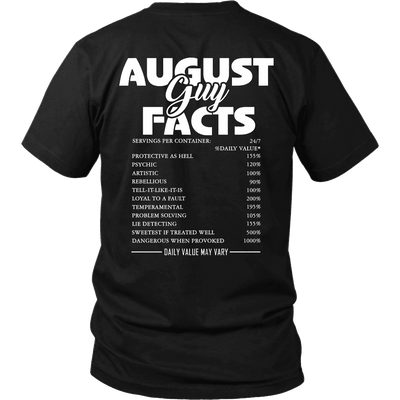 Limited Edition ***August Guy Facts*** Shirts & Hoodies
