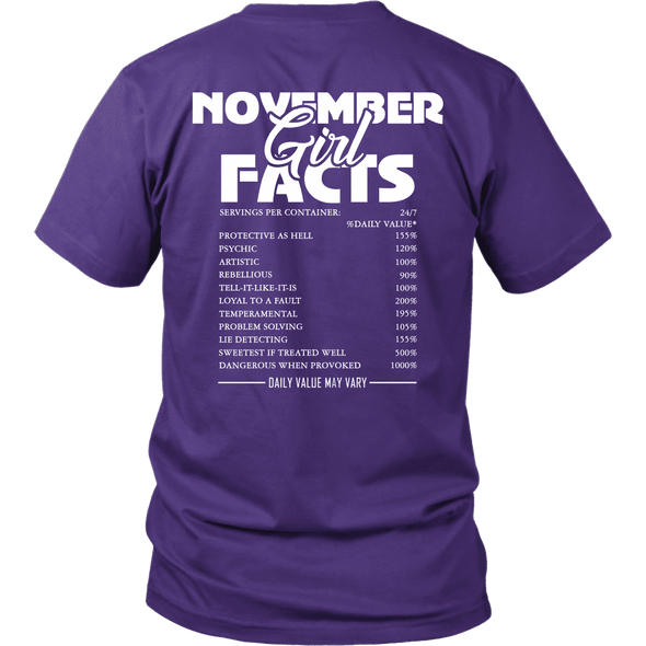 Limited Edition ***November  Girl Facts*** Shirts & Hoodies