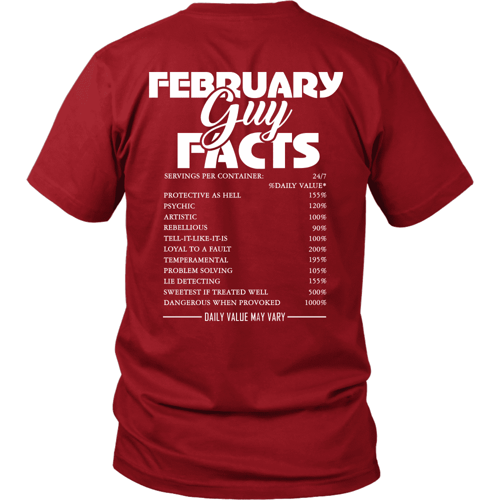 Limited Edition ***February Guy Facts*** Shirts & Hoodies