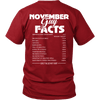 Limited Edition *** November Guy Facts*** Shirts & Hoodies