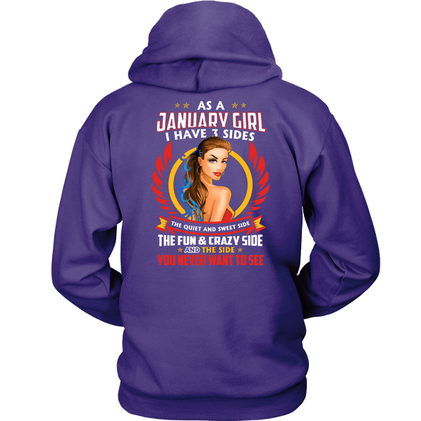 Limited Edition ***January Girl 3 - Sides*** Shirts & Hoodies