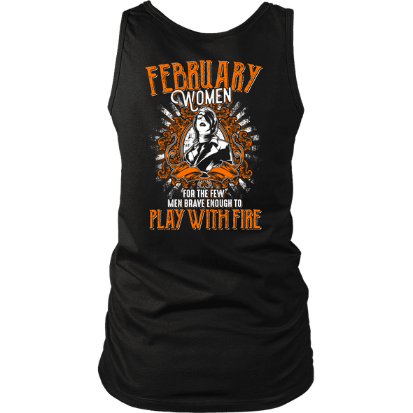 Limited Edition February Women Play With Fire Back Print Shirt