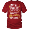**Limited Edition** Love All Trust Few September Born Shirts