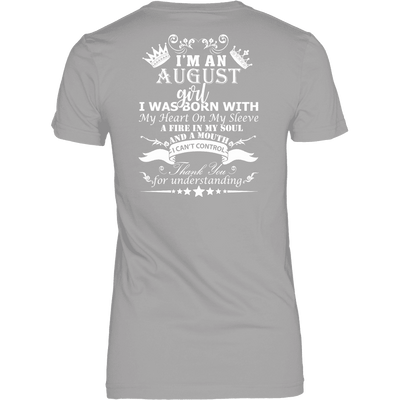 August Born Girl White Printed Shirts