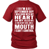 Limited Edition ***September Guy Heart On Sleeve Back Print*** Shirts
