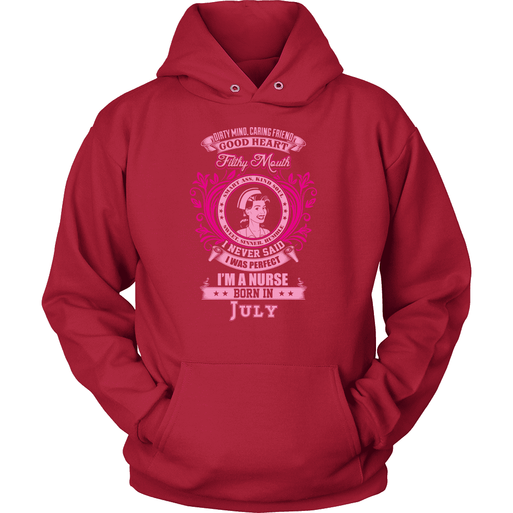 July Born Good Heart Nurse Shirt, Hoodie & Tank