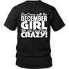 Limited Edition ***December Crazy Girl*** Shirts & Hoodies