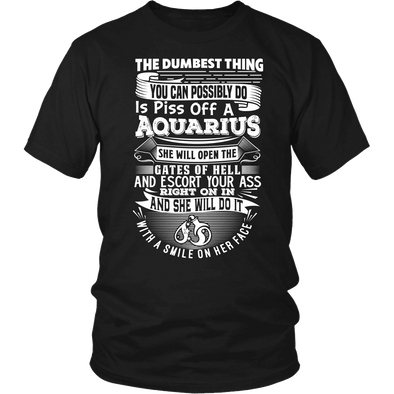 T-shirt - AQUARIUS DUMBEST THING WOMEN SHIRT