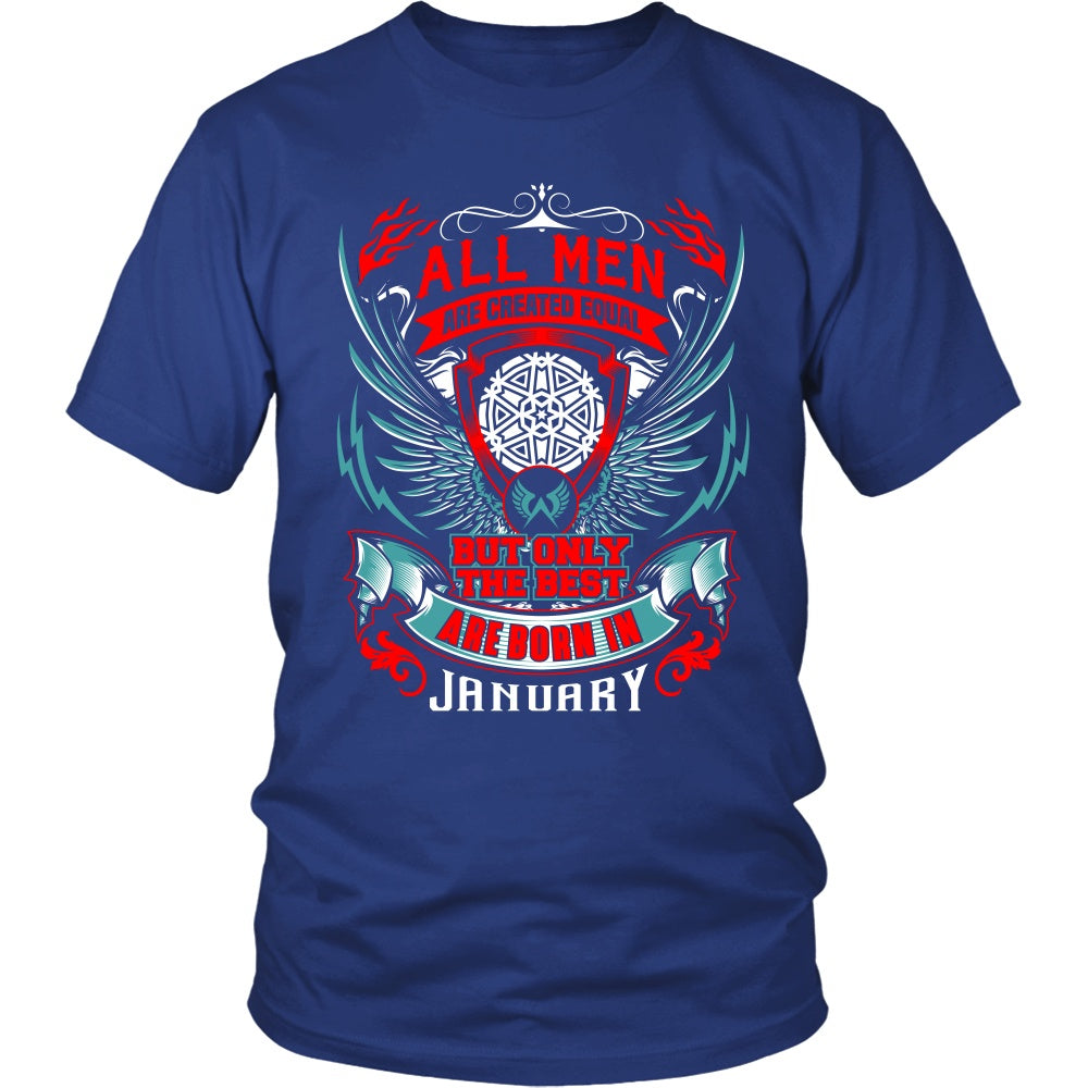 T-shirt - BEST MEN ARE BORN IN JANUARY