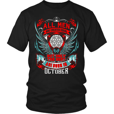 T-shirt - BEST MEN ARE BORN IN OCTOBER