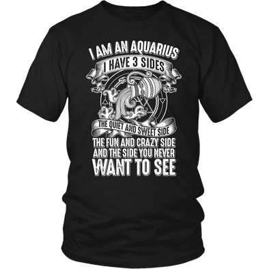 T-shirt - I HAVE 3 SIDES - AQUARIUS SHIRT