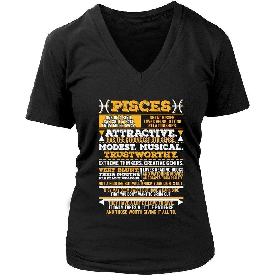T-shirt - PISCES LONG QUOTES SHIRT.
