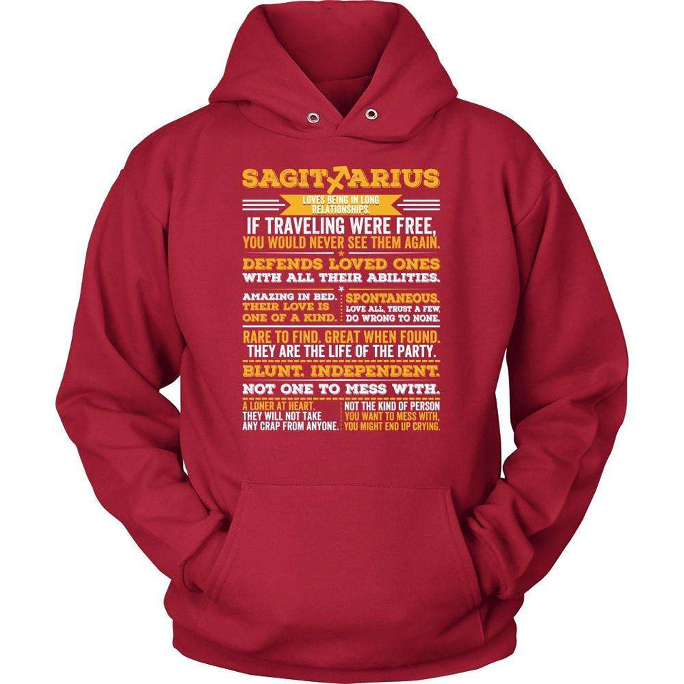 T-shirt - SAGITTARIUS LONG QUOTES SHIRT.