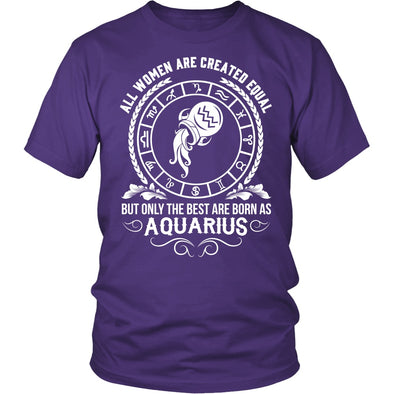 T-shirt - WOMEN - BEST ARE BORN AS AQUARIUS