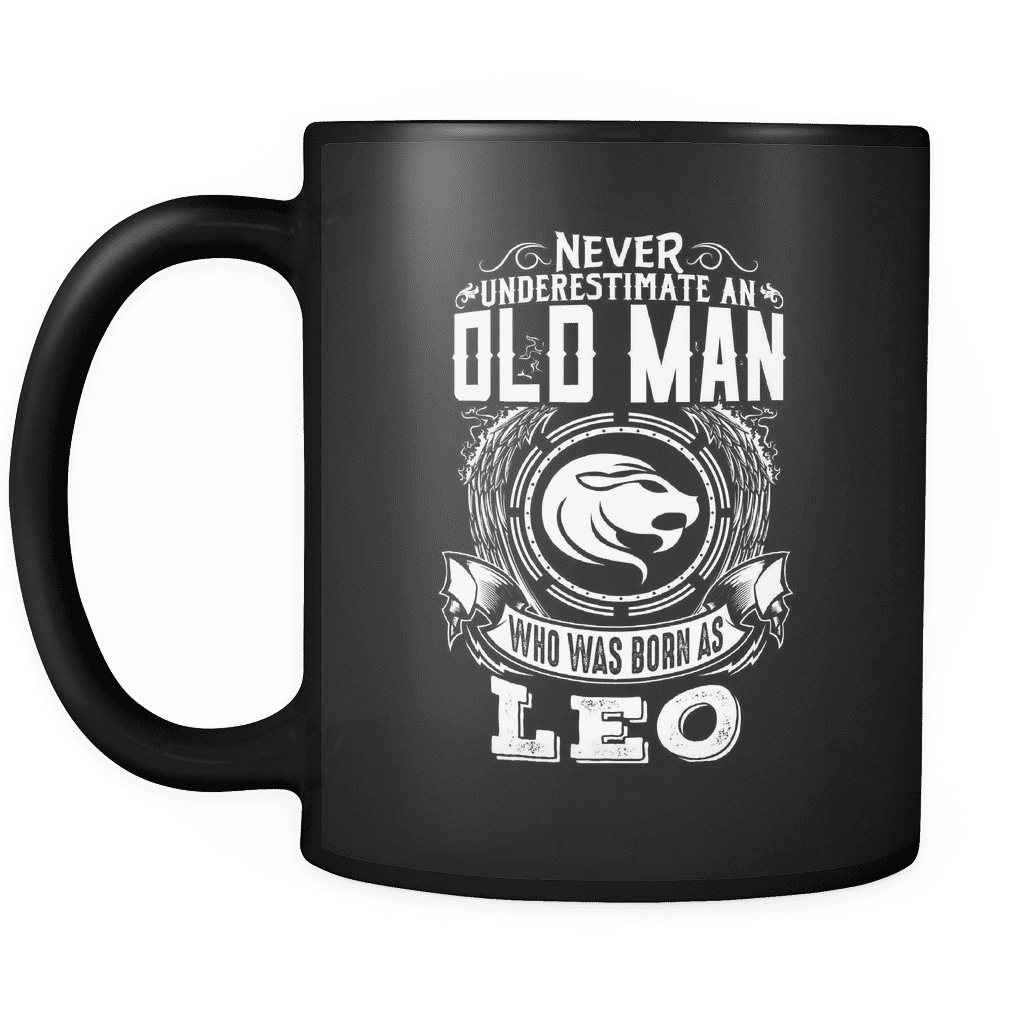 Leo Never Underestimate An Old Man Mug
