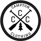 Campton Clothing Company Logo and Header on Homepage. Adventure and Outdoor Clothing