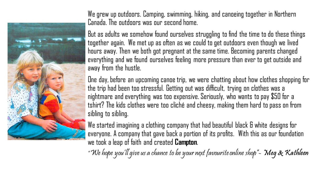 Campton Clothing Co. Our Story Description and Photo of Meg & Kathleen