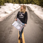 Take More Detours~ Ladies Crew Sweatshirt