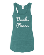 Beach, Please~ Ladies Tank Tank top Campton Clothing Company®