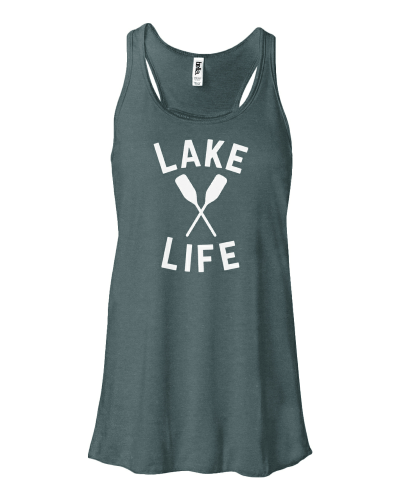 Lake Life 2.0 Ladies Flowy Racerback Tank