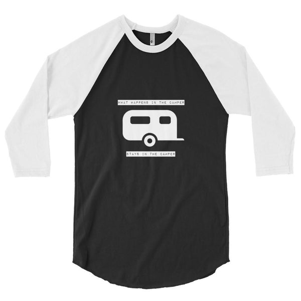 What Happens in the Camper- Men's Baseball shirt