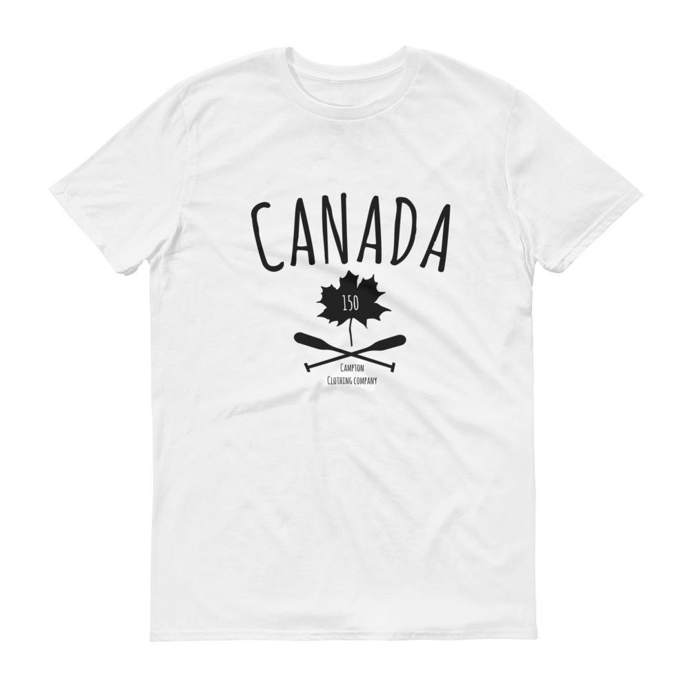 Canada 150 Anniversary Men's Tshirt in White from Campton Clothing Co.