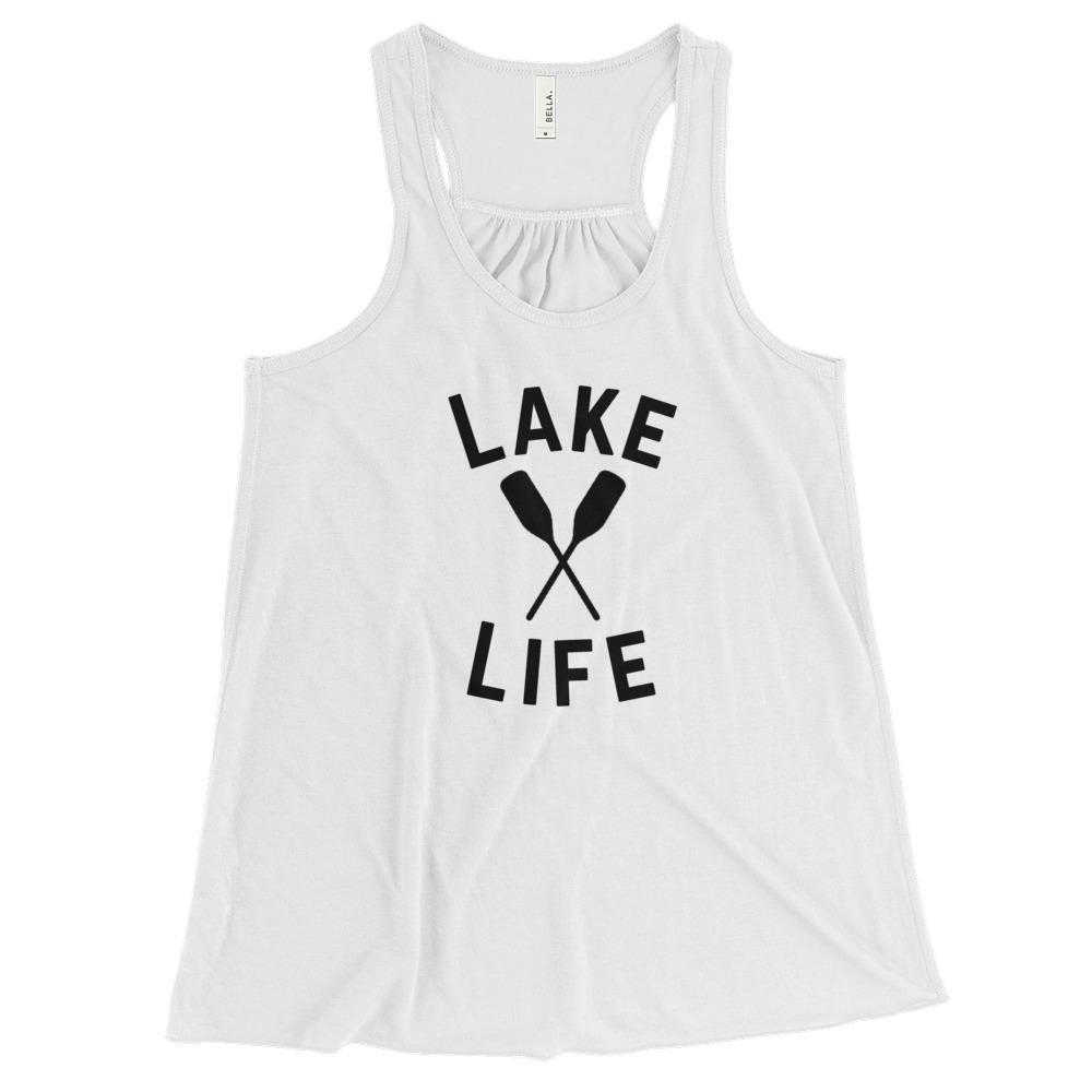 Shop Lake Life 2.0 Women's Flowy Racerback Tank - Campton Clothing Company®