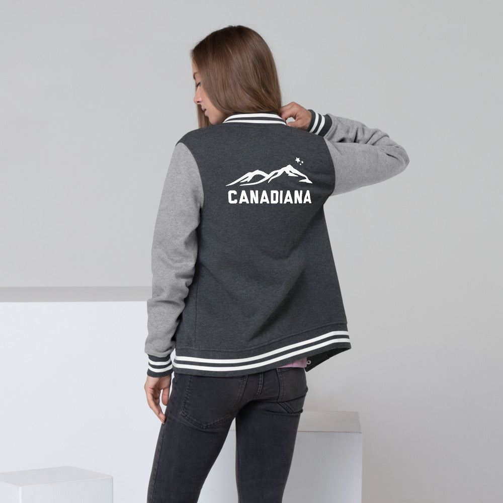 Canadiana Ladies Letterman Jacket