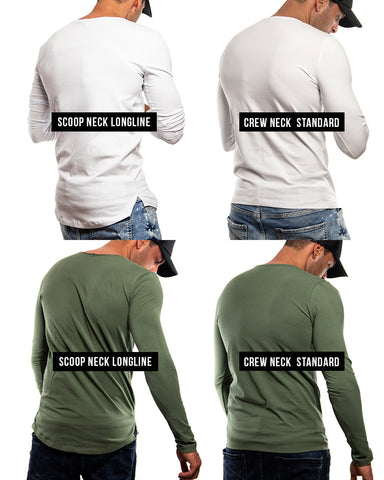 mens fashion long sleeve t-shirts