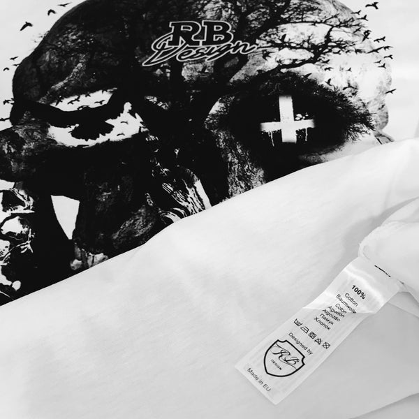 inverted cross skull t-shirt