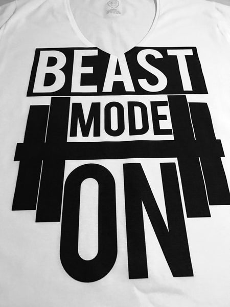 beast mode on mens training t-shirt